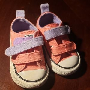 Converse sneakers peach and lavender